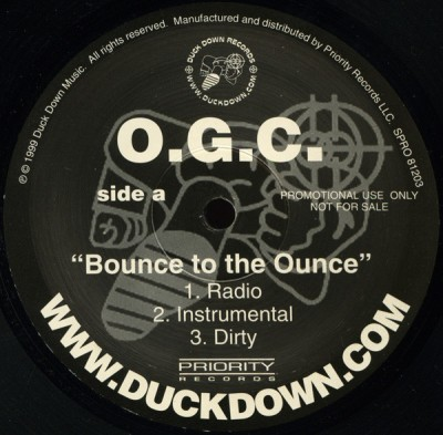 O.G.C. - Bounce To The Ounce