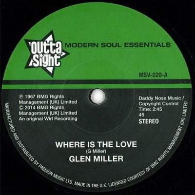 Glen Miller - Where Is The Love / Funky Broadway