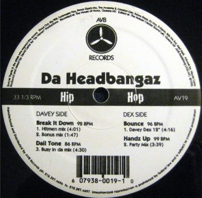 Davey Dex - Da Headbangaz