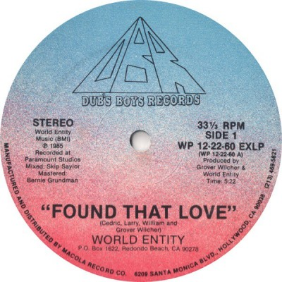 World Entity - Found That Love