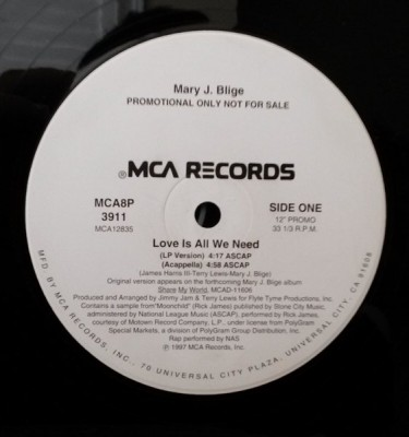 Mary J. Blige - Love Is All We Need (featuring Nas)