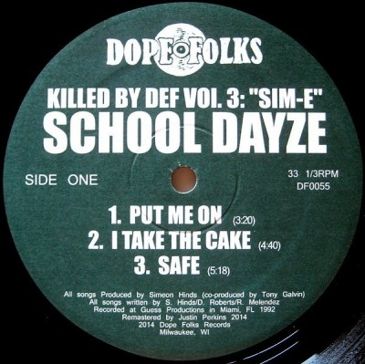 "School Dayze - Killed By Def Vol. 3: ""Sim-E"""