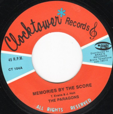 The Paragons - My Number One / Memories By The Score
