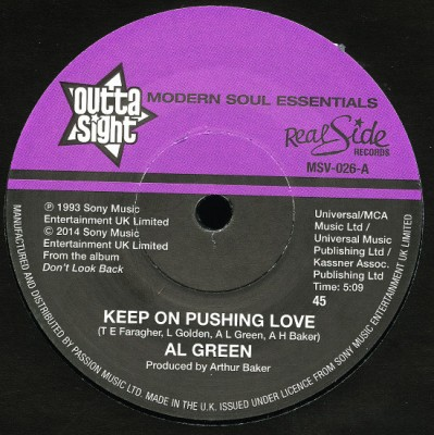 Al Green - Keep On Pushing Love / Your Heart's In Good Hands