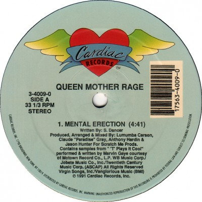 Queen Mother Rage - Mental Erection / To Be Real