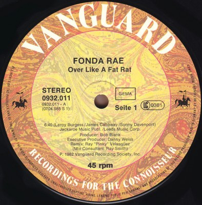 Fonda Rae - Over Like A Fat Rat