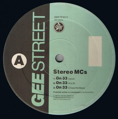 Stereo MC's - On 33