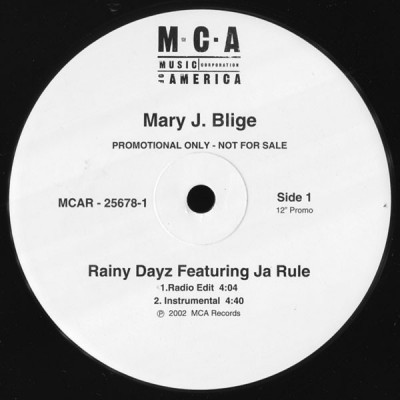 Mary J. Blige Featuring Ja Rule - Rainy Dayz