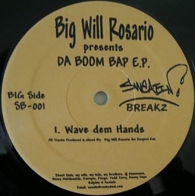 Big Will Rosario - Presents DA BOOM BAP E.P.