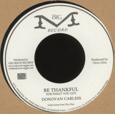 Donovan Carless - Be Thankful