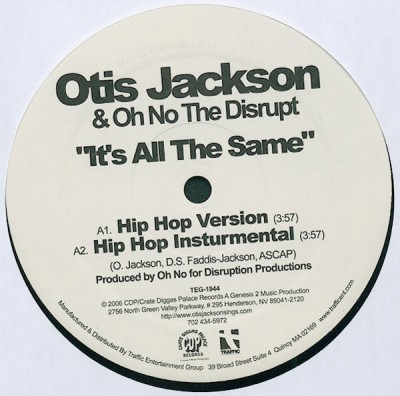 Otis Jackson Sr. - It's All The Same
