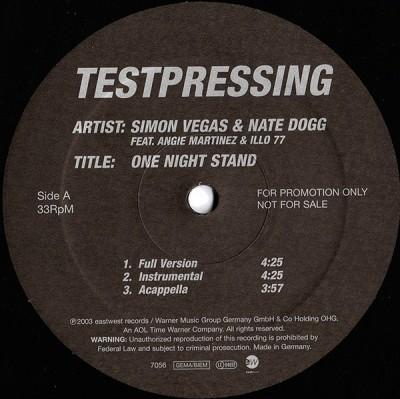Simon Vegas & Nate Dogg - One Night Stand