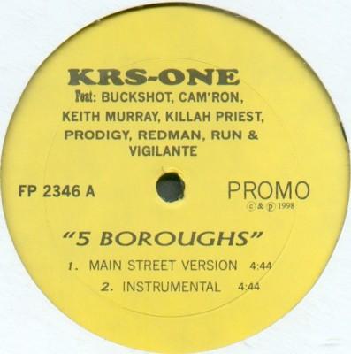 KRS-One - 5 Boroughs / Slow Down