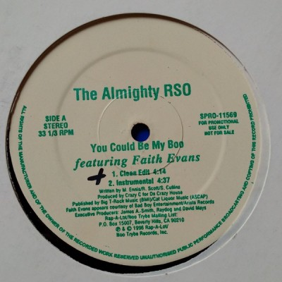 The Almighty RSO - You Could Be My Boo