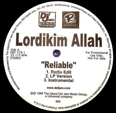 Lordikim Allah - Reliable