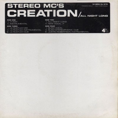 Stereo MC's - Creation / All Night Long
