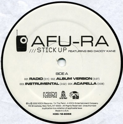 Afu-Ra - Stick Up / Hip Hop
