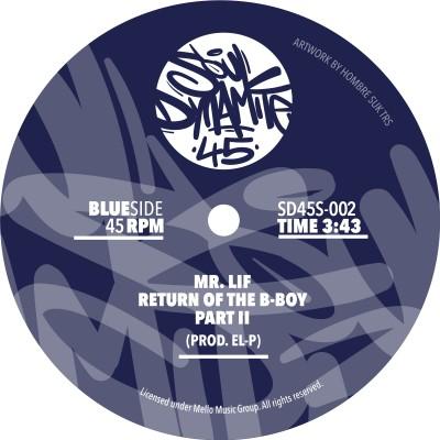 Mr. Lif - Return of The B-Boy (Black Vinyl Edition)