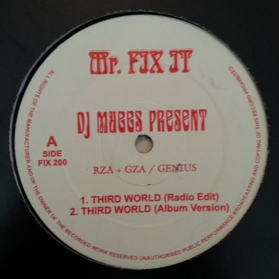 DJ Muggs Present RZA + GZA / Genius - Third World