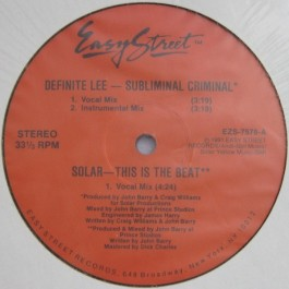 Definite Lee / Forty Thieves - Subliminal Criminal / This Is A Gang
