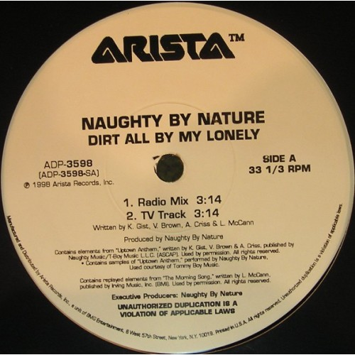Naughty By Nature - Dirt All By My Lonely Vinylism