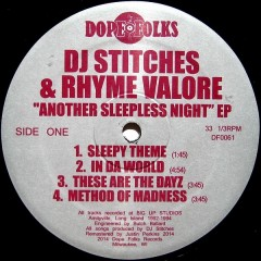DJ Stitches And Rhyme Va-Lor - Another Sleepless Night EP