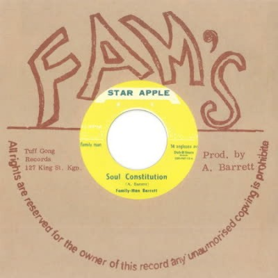 Aston 'Family Man' Barrett & Johnny Dizzy Moore - Soul Constitution