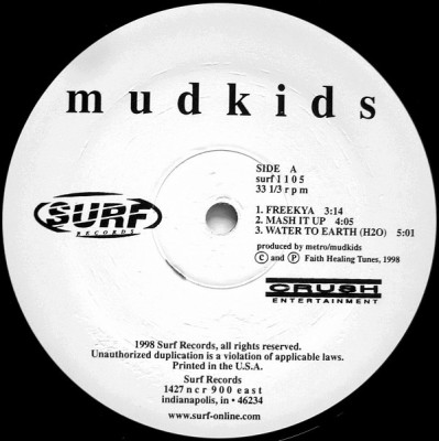 Mudkids - Freekya / Mash It Up / Water To Earth (H20)