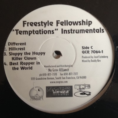 Freestyle Fellowship - Temptations (Instrumentals)