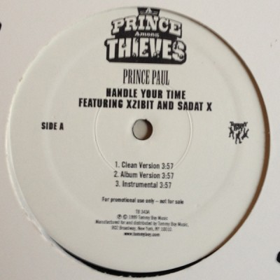 Prince Paul - Handle Your Time