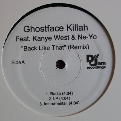 Ghostface Killah Feat. Kanye West & Ne-Yo - Back Like That (Remix)