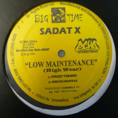Sadat X - Low Maintenance (High Wear)/ X Man