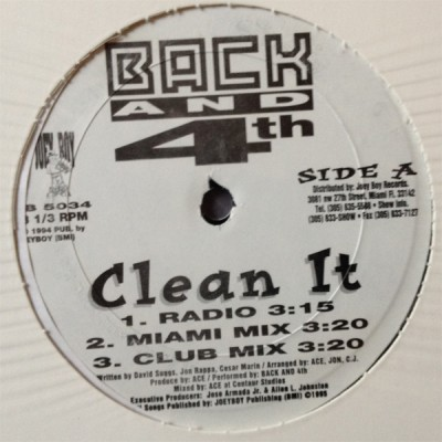 Back And 4th - Clean It