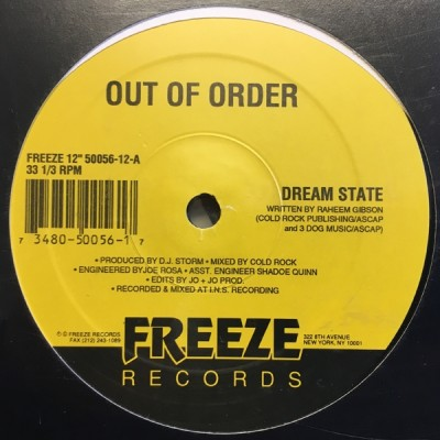 Out Of Order - Dream State / Rough Around The Edges