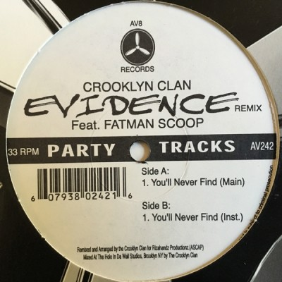 Crooklyn Clan Featuring Evidence & Fatman Scoop - You'll Never Find