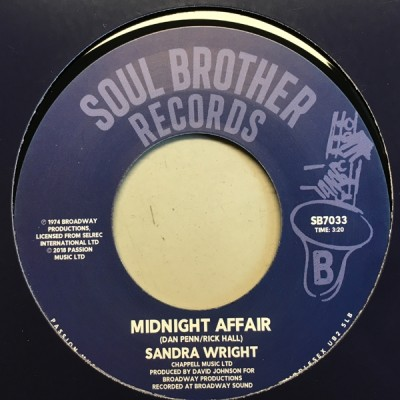 Sandra Wright - Wounded Woman / Midnight Affair