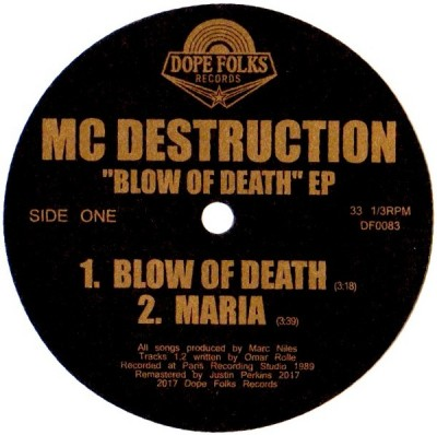 MC Destruction - Blow Of Death EP