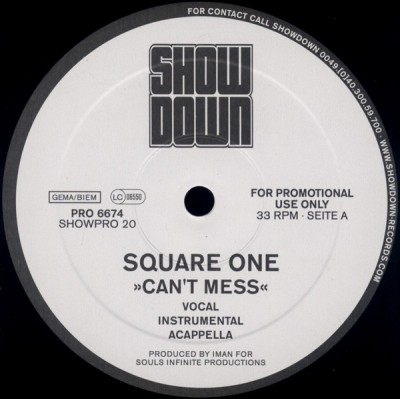 Square One - Can't Mess / Backstabbers