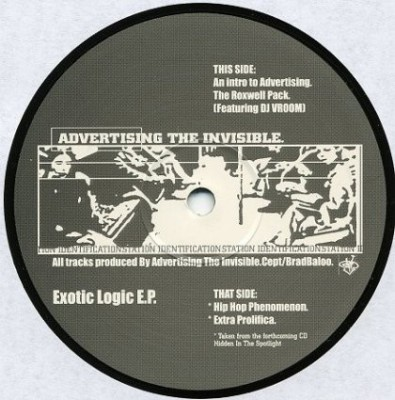 Advertising The Invisible - Exotic Logic EP