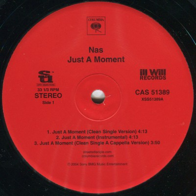 Nas - Just A Moment / These Are Our Heroes