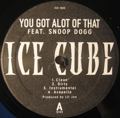 Ice Cube - You Got Alot Of That / Chrome And Paint