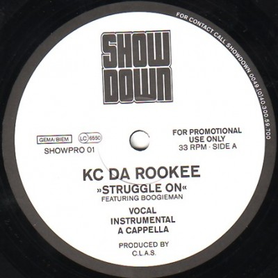 KC Da Rookee - Struggle On / What Da Blood