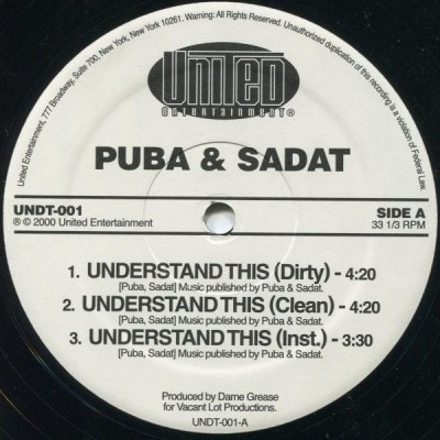 Grand Puba - Understand This / Nigga Haters