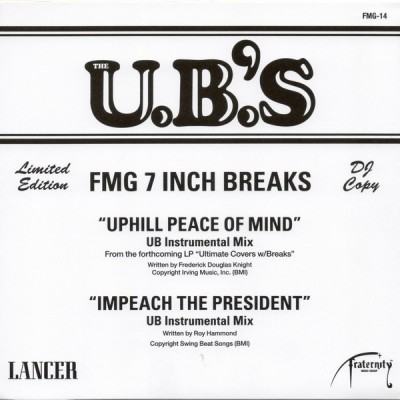 The U.B.'S - Uphill Peace Of Mind / Impeach The President