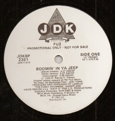 Fu2 - Boomin' In Ya Jeep