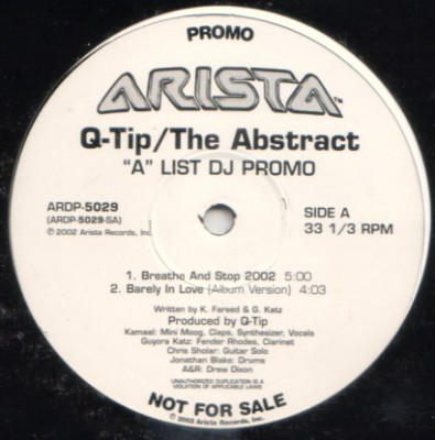 "Q-Tip - The Abstract (""A"" List DJ Promo)"