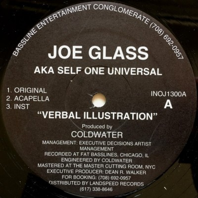 Joe Glass AKA Self One Universal - Verbal Illustration / Balance Of Life