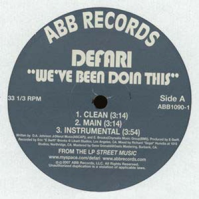 Defari - We've Been Doin This / Congratulations
