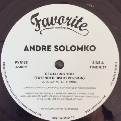 Andre Solomko - Recalling You
