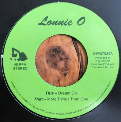 Lonnie O - Dream On / More Things Than One